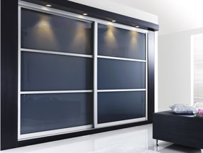 Sliding Doors in Anthracite Glass