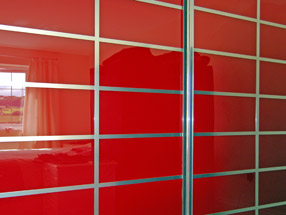 Red Multipanel Sliding Doors