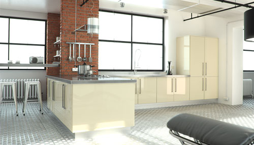 Flat Slab Kitchen Doors